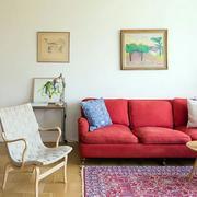 美式简约风格沙发背景墙