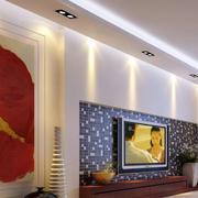 后现代风格拼色背景墙设计