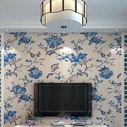 青花瓷花纹背景墙