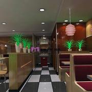 简约风格创意快餐店灯饰设计