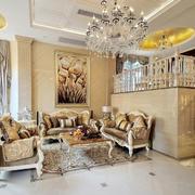 别墅欧式奢华客厅沙发设计