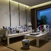 客厅青花瓷桌凳装修