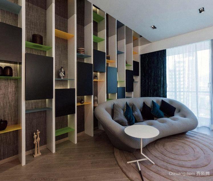 增加收纳空间而且美观的墙上置物架装修效果图