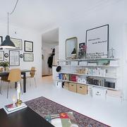 小户型客厅书架装饰