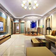 后现代风格客厅地板装饰