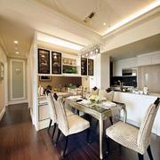 三室两厅简欧风格餐厅装修