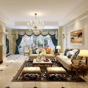 欧式奢华客厅地板装修