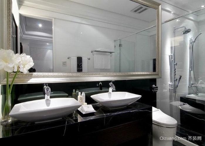 30平米简欧风格整体卫生间装修效果图设计