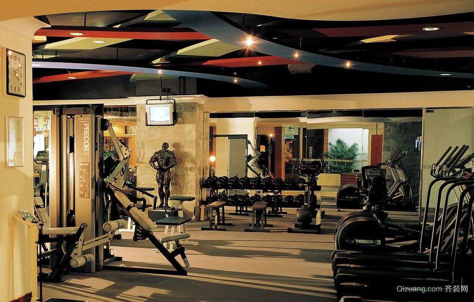 全面健身:健身房装修效果图