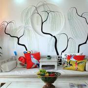 后现代风格客厅创意背景墙