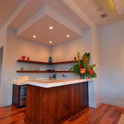 美式原木客厅石膏线设计