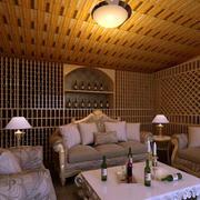别墅大型酒窖沙发椅装修