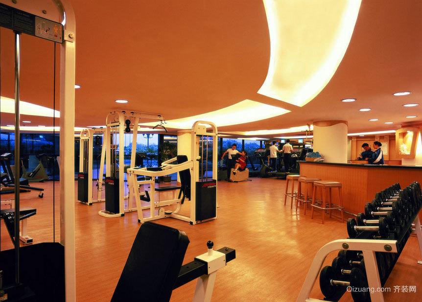 练出马甲线:顶级高端的大户型健身房装修效果图