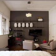 小户型卧室电视背景墙