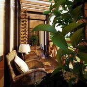 别墅阳台藤椅设计