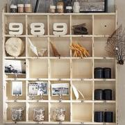 简约风格原木置物架设计