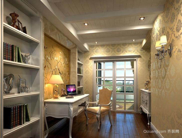 奢华而高雅的搭配:简欧风格的书房装修效果图