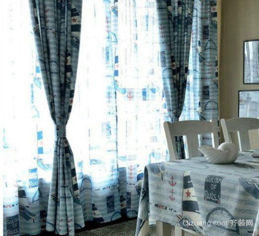 唯美梦幻的地中海风格高档窗帘装修效果图