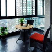后现代风格内嵌阳台装饰