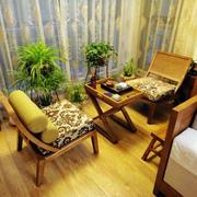 东南亚露台原木桌椅设计