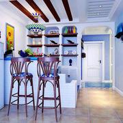 90平方客厅吧台设计