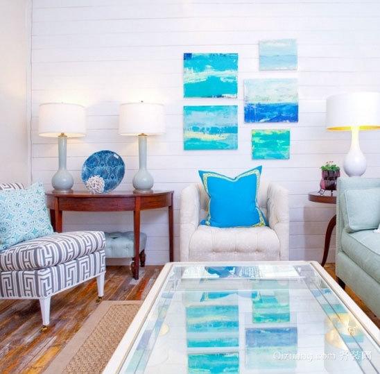 清凉海风 地中海风格小户型客厅装修效果图片