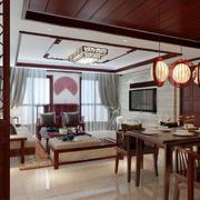 中式实木吊顶设计