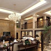 欧式经典错层客厅设计
