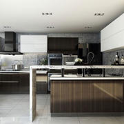 后现代风格灰色厨房装修