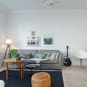 黑色系客厅地毯设计