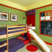 卧室原木床饰装修