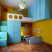上下铺式儿童房装饰