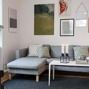 北欧风格灰色沙发效果图