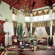 美式高耸客厅装修