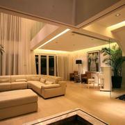 别墅后现代简约风格沙发装饰