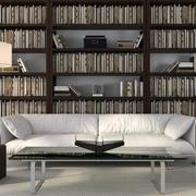 后现代风格大型书架装修