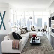 复式楼客厅木制地板设计