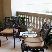 美式简约风格阳台桌椅