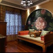 新中式客厅床饰装修