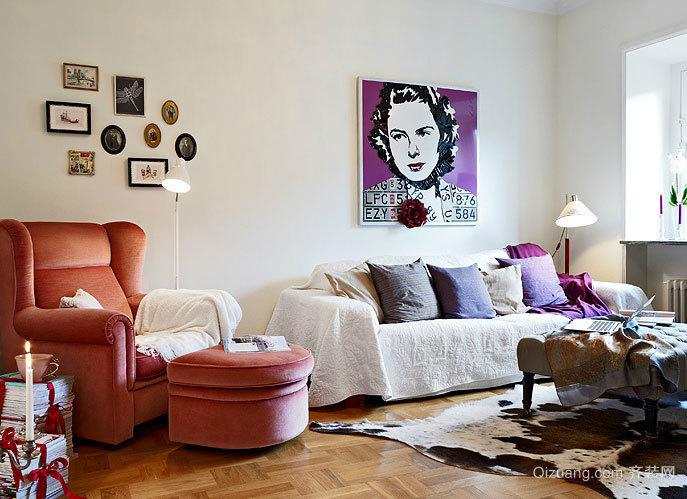 50平米现代简约风格袖珍迷人的公寓装修效果图