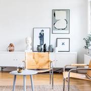 北欧风格客厅简约桌椅设计