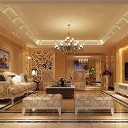 奢华欧式风格客厅背景墙设计
