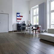 美式简约风格客厅地板效果图