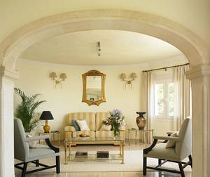 线条美凸出的欧式风格客厅装修效果图