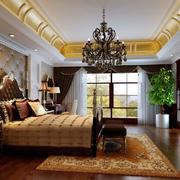 欧式奢华卧室吊顶效果图