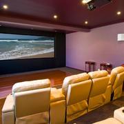 欧式家庭影院皮制沙发设计