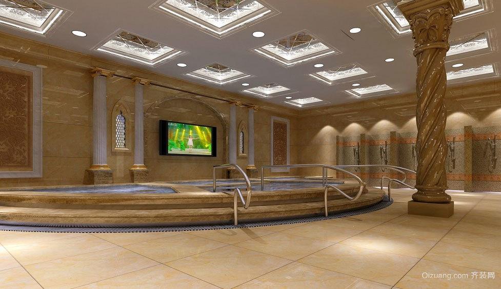 洗澡休息不耽误的洗浴中心装修效果图