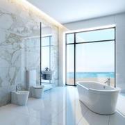 简约风格白色浴室