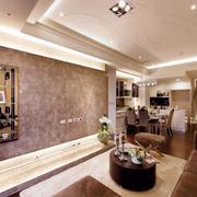 三室两厅客厅简欧风格背景墙