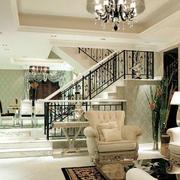 田园风格客厅楼梯设计